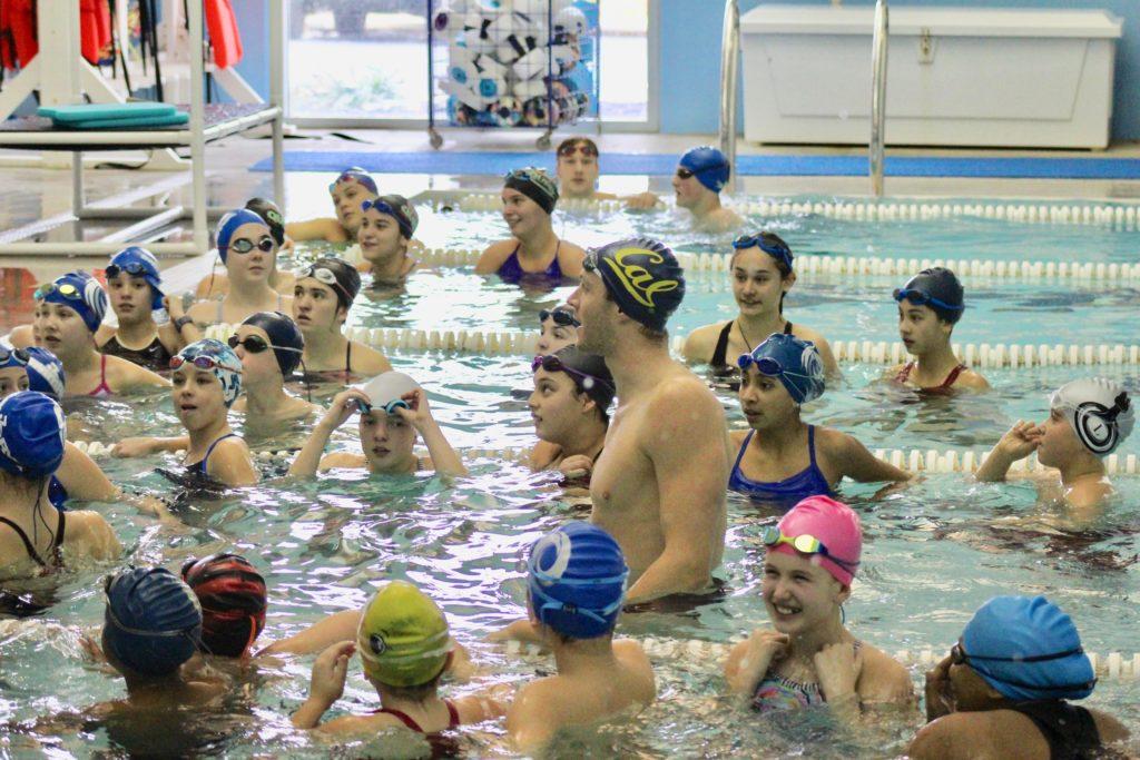 Ryan Murphy with SwimRVA Rapids swimmer Brandt Gillette
