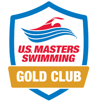 A badge graphic of the U.S. Masters Swimming Gold Club